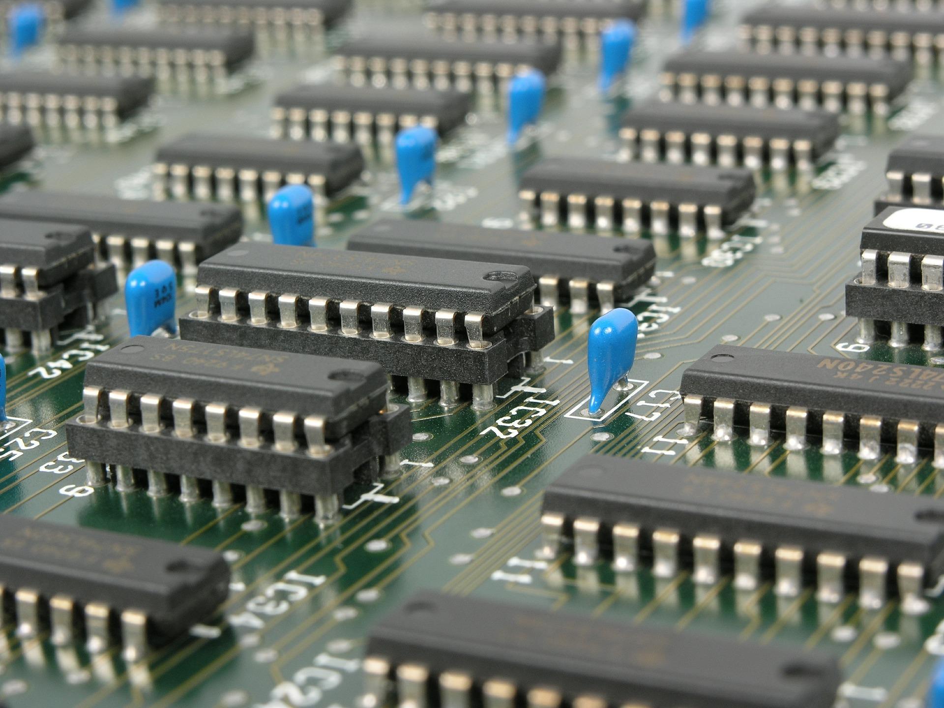 Mainboard mit Transistoren