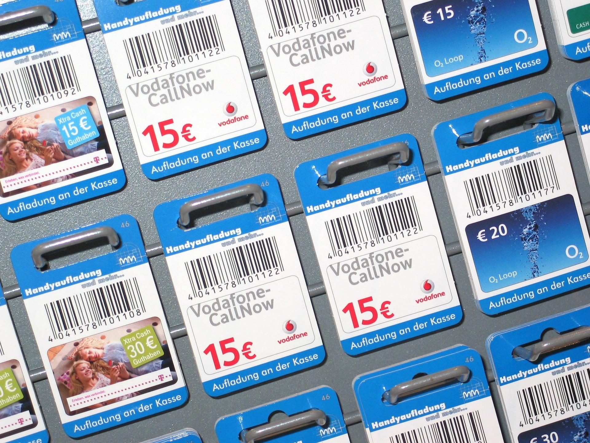 Telefon-Prepaid-Karten